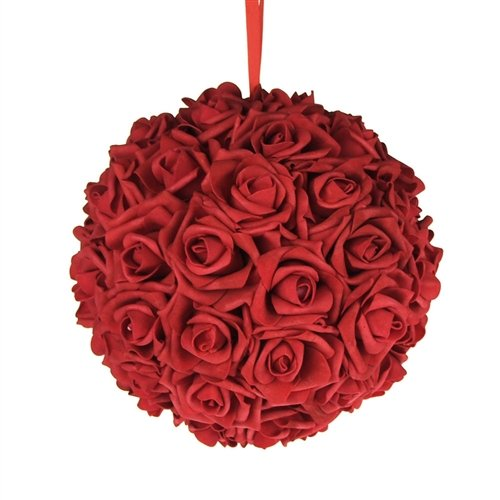 Homeford FNS008564RED Soft Touch Foam Kissing Ball Wedding Centerpiece, 10