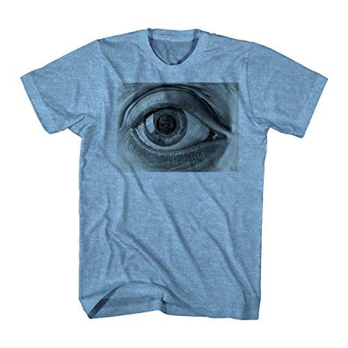 M.C. Escher Men's M.C. Escher Eye Graphic T-Shirt, Heather Blue, XX-Large