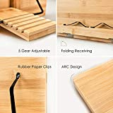 Bamboo Book Stand Holder for Reading Hands
