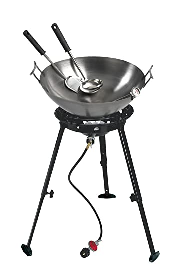"Eastman Outdoors 22"" Deep Dish Carbon Steel Wok Kit Review"