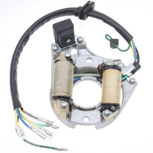 2-coil Full-wave Magneto Stator for 50cc-125cc Electrical Start ATV Dirt Bike Go Kart Pit Bike 4 Wheeler Quad Bikes motopartscenter