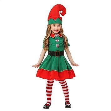 Chenqi Disfraz de Navidad Elfos de Navidad para niños Cosplay ...