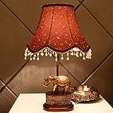 Great St. Creative Elephant Desk Lamp Retro Sculpture Resin Reading Light E27 Lamp Holder Living Room/Bedroom/Study Lighting Decorative Lights FGD (Color : Dimmer switch)