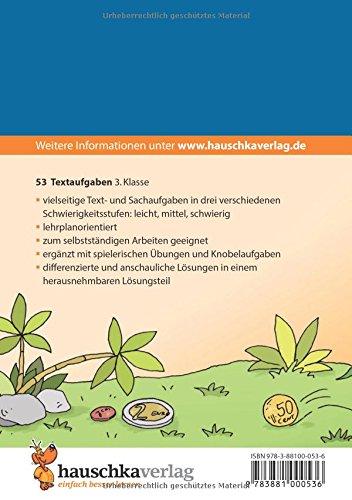 Textaufgaben 3. Klasse: Sachaufgaben - Übungsprogramm mit Lösungen ...