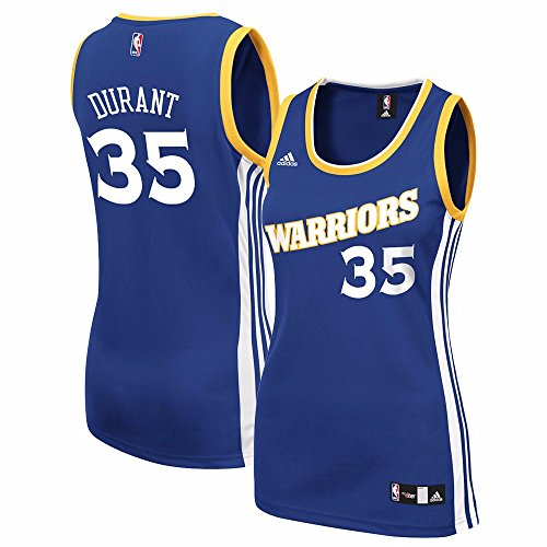 Kevin Durant Golden State Warriors NBA Adidas Women's Blue Official Road Replica Jersey (M)