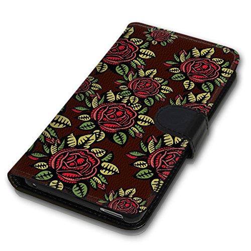 Wallet Book Style Flip Handy Tasche Case Schutz Hülle Schale Motiv Etui für Apple iPhone 6 Plus / 6S Plus - Design Flip MV85