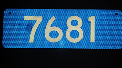 911 Blue Premium 3M Prismatic Reflective Address w/ 4' Numbers Mailbox Marker Home Business Horizontal Mg2 Signs