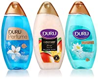 Duru 3 Piece Shower Gel Variety Pack, Mango Ice Cream/Aqua Love/Lotus