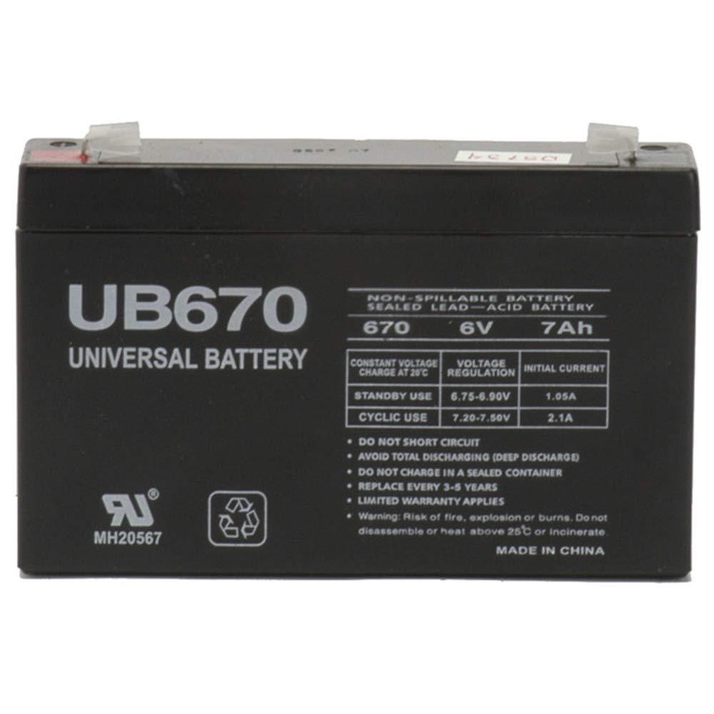 PowerStar 6 Volt 6V 9Ah SLA Sealed Lead Acid Battery for Emergency Lights UB670