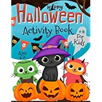Halloween Activity Book for Kids Ages 4-8: Coloring, Dot to Dot, Mazes, Puzzles and More. (50 Activity Pages)