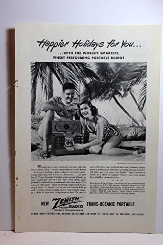Ad for Zenith Trans-Oceanic Portable Radio