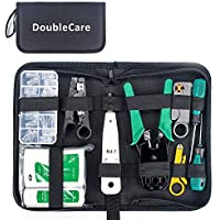 DoubleCare Netwerk Reparatiepakket met Gereedschap, Professioneel Gereedschap RJ45 RJ11 RJ12 Cat5 Krimpgereedschap, met…