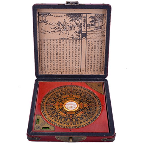 Chinese Feng Shui Dragon & Phoenix Compass Luo Pan Tool W Fengshuisale Red String Bracelet (G1322) (Chinese Shui Feng)