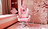 AutoFull Pink Gaming Chair PU Leather High Back
