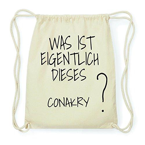 JOllify CONAKRY Hipster Turnbeutel Tasche Rucksack aus Baumwolle - Farbe: natur Design: Was ist eigentlich