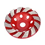 "KKmoon Grinding Disc, 100mm 4"" Diamond Segment Grinding Wheel Disc Bowl Shape Grinder Cup Concrete Granite Masonry Stone Ceramics Terrazzo Marble for Building Industry"