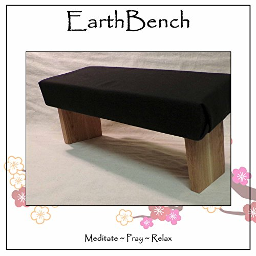 Meditation Bench ~ Seiza Kneeling Stool ~ Padded with Fixed Legs (Regular: less than 5'9
