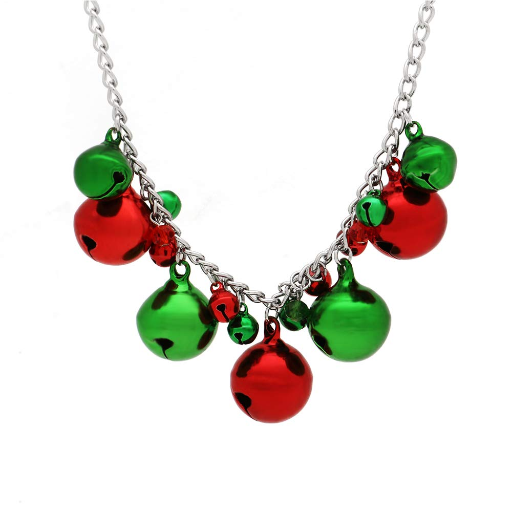Christmas Jingle Bell Necklace X-Mas Holiday Cute