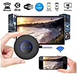 Unee1 M15 WI-FI Display Dongle, Wireless 1080P Mini Display Receiver With AV Output And Marquee Light HDMI TV Miracast Dina Airplay For IOS/Android/Windows/Mac