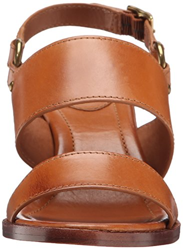 Smooth mujer Sandalias vestido Leather Frye Tan de la Brielle Veg arnés de Polished 6qfwazx