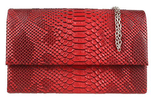 Folded HandBags Burgundy Bag Girly Snake Girly Clutch Skin Snake HandBags Skin IZpx0H