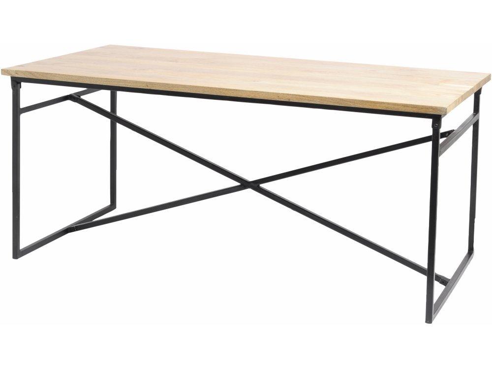 Boston Kreuz Rahmen Mango Holz Esstisch: Amazon.de: Küche & Haushalt