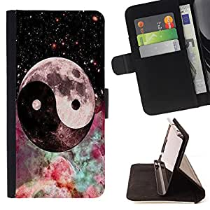 - Eight trigrams of Yin and Yang - - Style PU Leather Case Wallet Flip Stand Flap Closure Cover FOR LG OPTIMUS L90 - Devil Case -