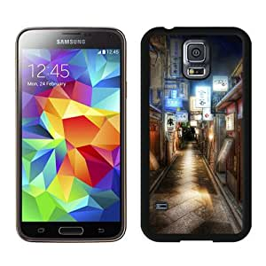 Hot Sale Samsung Galaxy S5 I9600 Case ,Beautiful Unique Designed Case With Kyoto Japan Alley Black Samsung Galaxy S5 I9600 Cover
