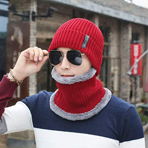 FERZA Sombrero Home Sombrero FERZA de Punto para Hombre de Invierno de los  Hombres del Sombrero 03abef4fe05c
