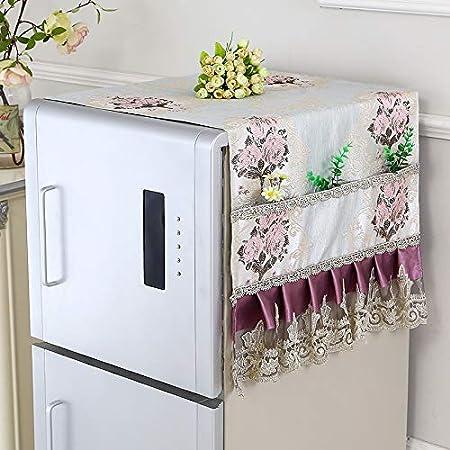 1 muebles de PC a casa refrigerador cubierta de tela de encaje ...