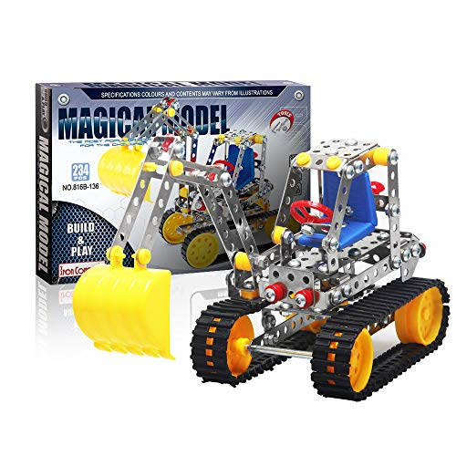 IRON COMMANDER Erector Set Construction Vehicles Model Excavator Toy Building Set, 234 Parts, STEM Education Toy for Ages 8 and Up