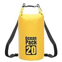 Mochila Hombre de Viaje Impermeable Portatil - RFAIKA Hombre Mujer Bolsa de Cubo Bolsa Impermeable, Backpack Impermeable, Protector Iluvia Camara Reflex, For Rafting, Playa, Turismo