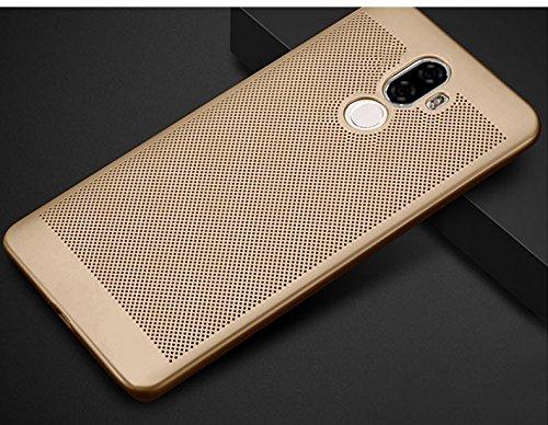 Funda Xiaomi Mi 5C,Alta Calidad Ultra Slim Anti-Rasguño y Resistente Huellas Dactilares Totalmente Protectora Caso de Plástico Duro Case,Cuadrícula Disipación de calor Antideslizante Cover C
