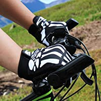 LERWAY Moto Guantes MTB Bicicleta Moto Accesorios Guantes de Ciclismo Antideslizante de Dedo Completo para Motocicletas Deportivas al Aire Libre Monstruo Guantes de Esqueleto Creativo M