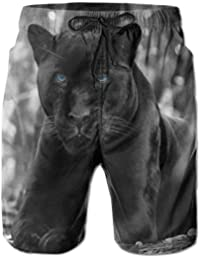 0f388cff44 Black Leopard Panther Casual Men Summer Surfing Quick-Drying Swim Trunks  Shorts Beach Pants With
