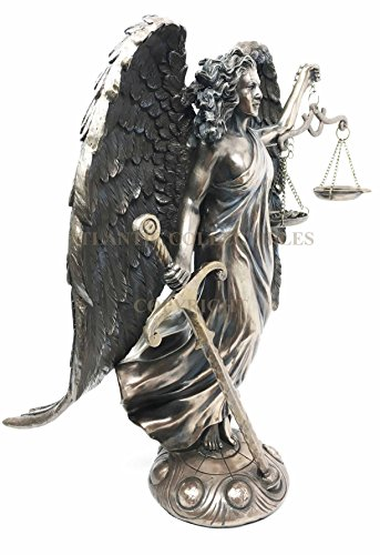 Holy Archangel Raquel Raguel Figurine Patron Of Justice and Harmony Divinity Christian Spiritual Being Defender of The Oppressed Triumph Over Evil Injustice