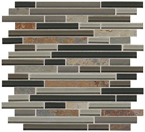 Dal-Tile SA5558RANDMS1P-SA55 Fashion Accents Tile Flint Slate & Glass 2 x 2