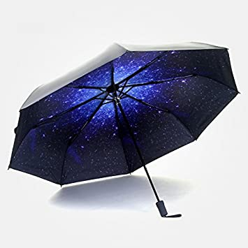 4EVERHOPE Paraguas compacto para el sol y la lluvia, paraguas de viaje plegable, resistente
