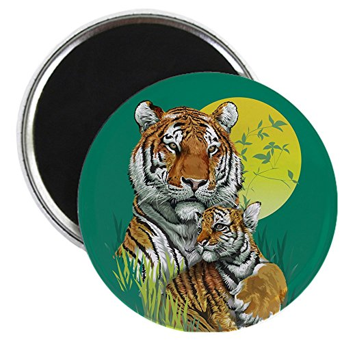 2.25 Inch Magnet Tiger Family Cub Stripes in Jungle