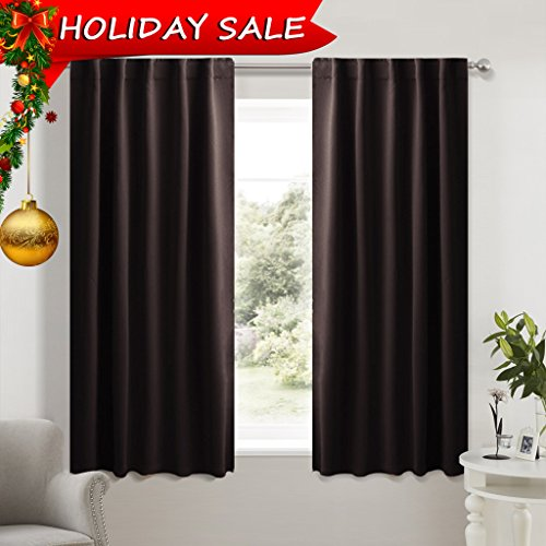 Window Treatment Blackout Curtains and Draperies - (Brown Color) 42