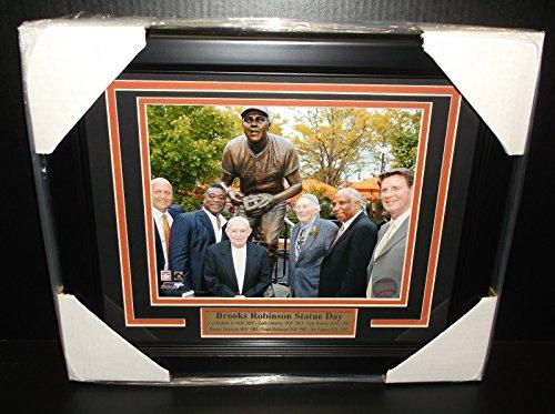 Ripken Jr Framed 8x10 Photo - BALTIMORE ORIOLES BROOKS ROBINSON STATUE DAY HOF CAL RIPKEN JR 8X10 PHOTO FRAMED