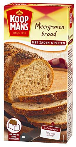 Koopmans Meergranen broodmix (6x 450g multipack), met zaden en pitten, mix geschikt voor 1 brood of 10 bolletjes (oven…