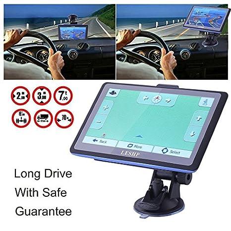Diseño fácil de usar 7 pulgadas Full HD 8 GB coche camión vehículo de navegación GPS