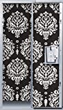 Black and White Damask Locker Wallpaper