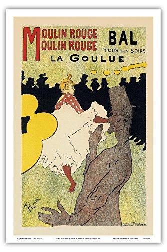 Moulin Rouge Casino - Pacifica Island Art - Dance Hall Moulin Rouge Paris - Vintage Cabaret Casino Poster Henri de Toulouse-Lautrec c.1891 - Master Art Print - 12in x 18in