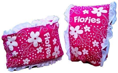 Girls Floatsafe Flotie Soft Fabric Armbands floatie, Pink -
