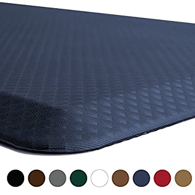 The Original 3/4  KANGAROO (TM) Anti-Fatigue Comfort Mat Kitchen Rug, Ergonomically Engineered, Non-Toxic, Waterproof, 39x20 inches (Navy)