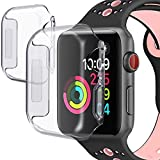 PEYOU [2 Pack] Compatible for Apple Watch Case Series 4...