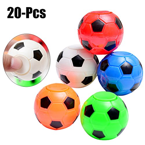 (Funpa 20PCS Stress Sport Ball Stress Relief Toy Soccer Shaped Mini Toy Party Gift Ball Toy (Random Color))