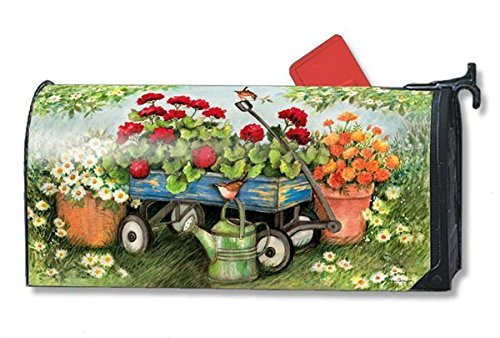 MagnetWorks Geraniums by the Dozen LARGE Magnetic Mailbox Cover